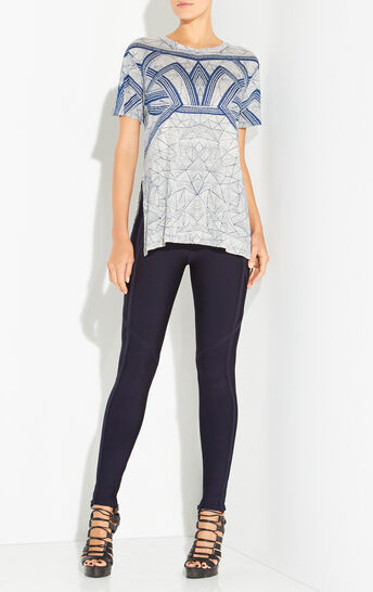 Bryanna Geometric Arc Printed Top
