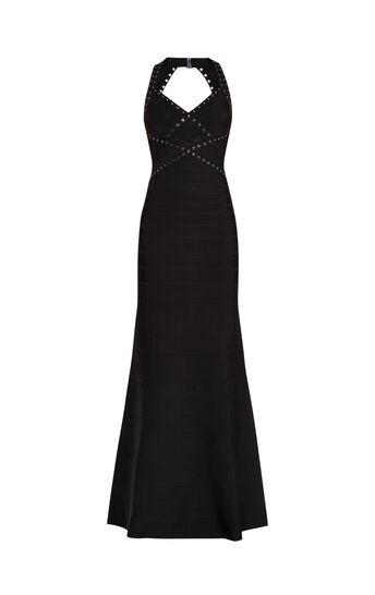 Jenna Grommet Bandage Applique Gown