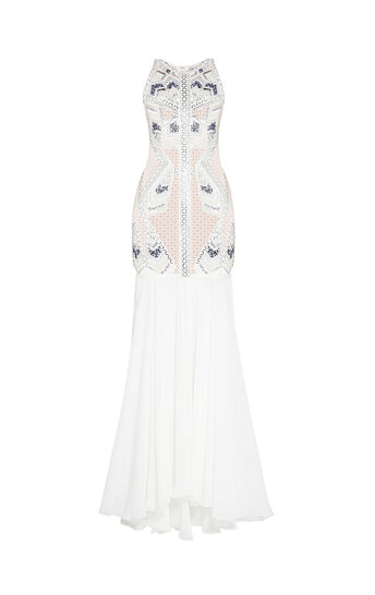 Antonella Multi-Beading Embroidered Dress