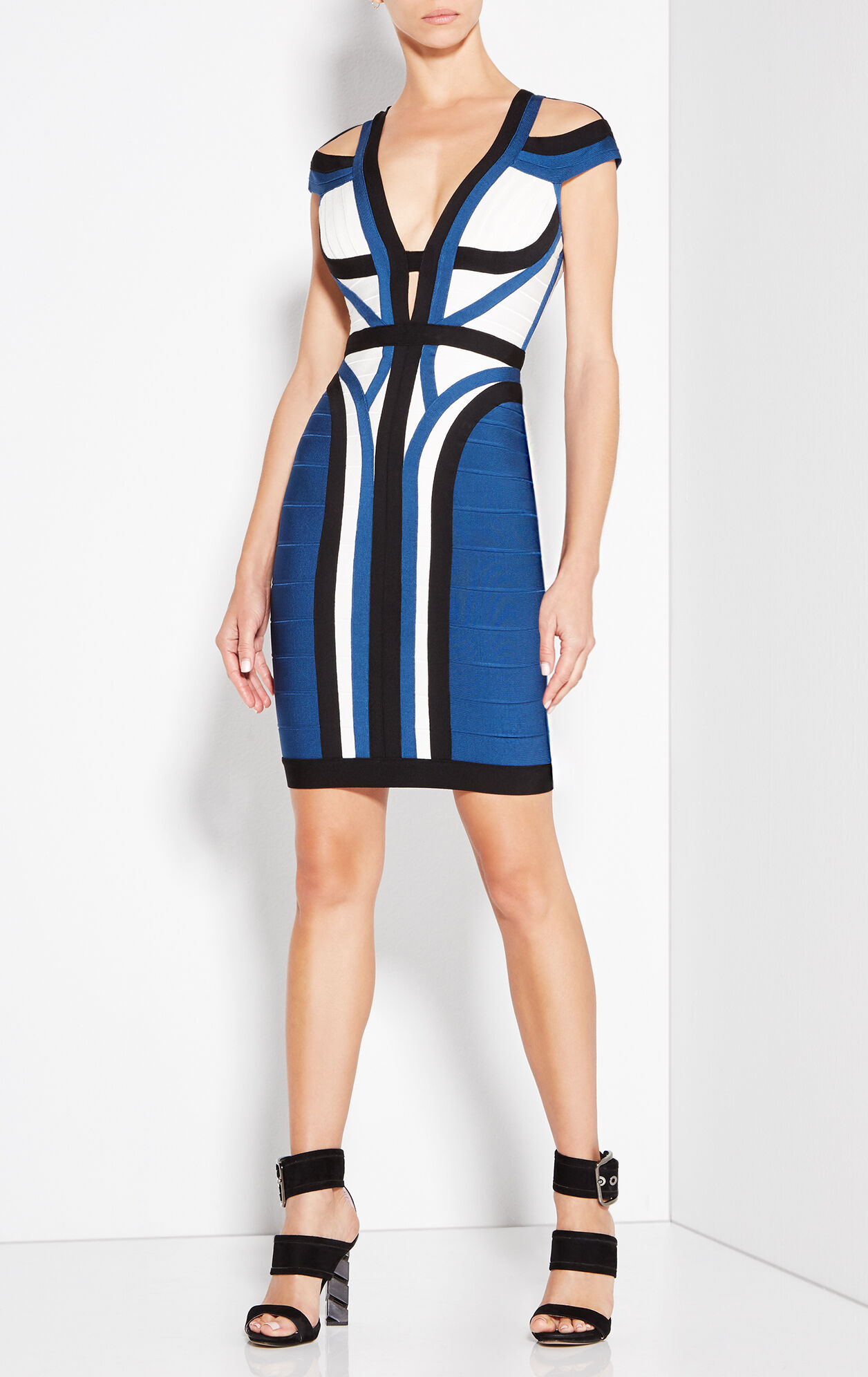 Imani Color-Blocked Dress