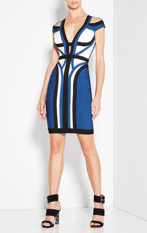 Imani Color-Blocked Dress