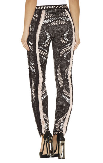 Vega Crochet Mesh Jacquard with Fringe Legging