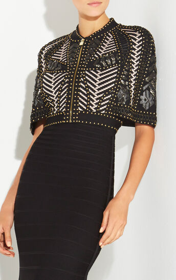 Violeta Mosaic Lacing Stud Detail Jacket