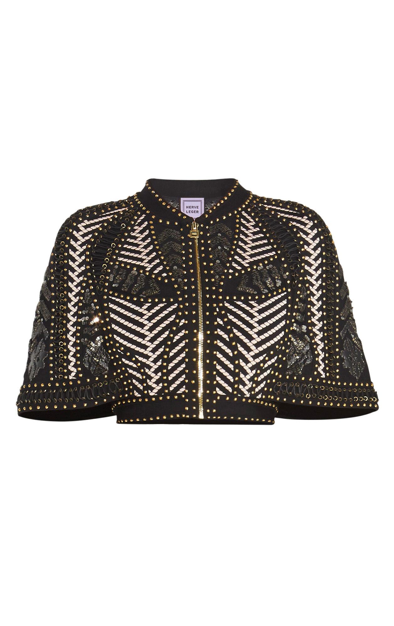 Violeta Mosaic Lacing Stud Detail Jacket
