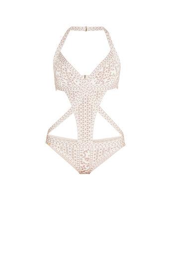 Anaiis Floral Diamond Jacquard Swim