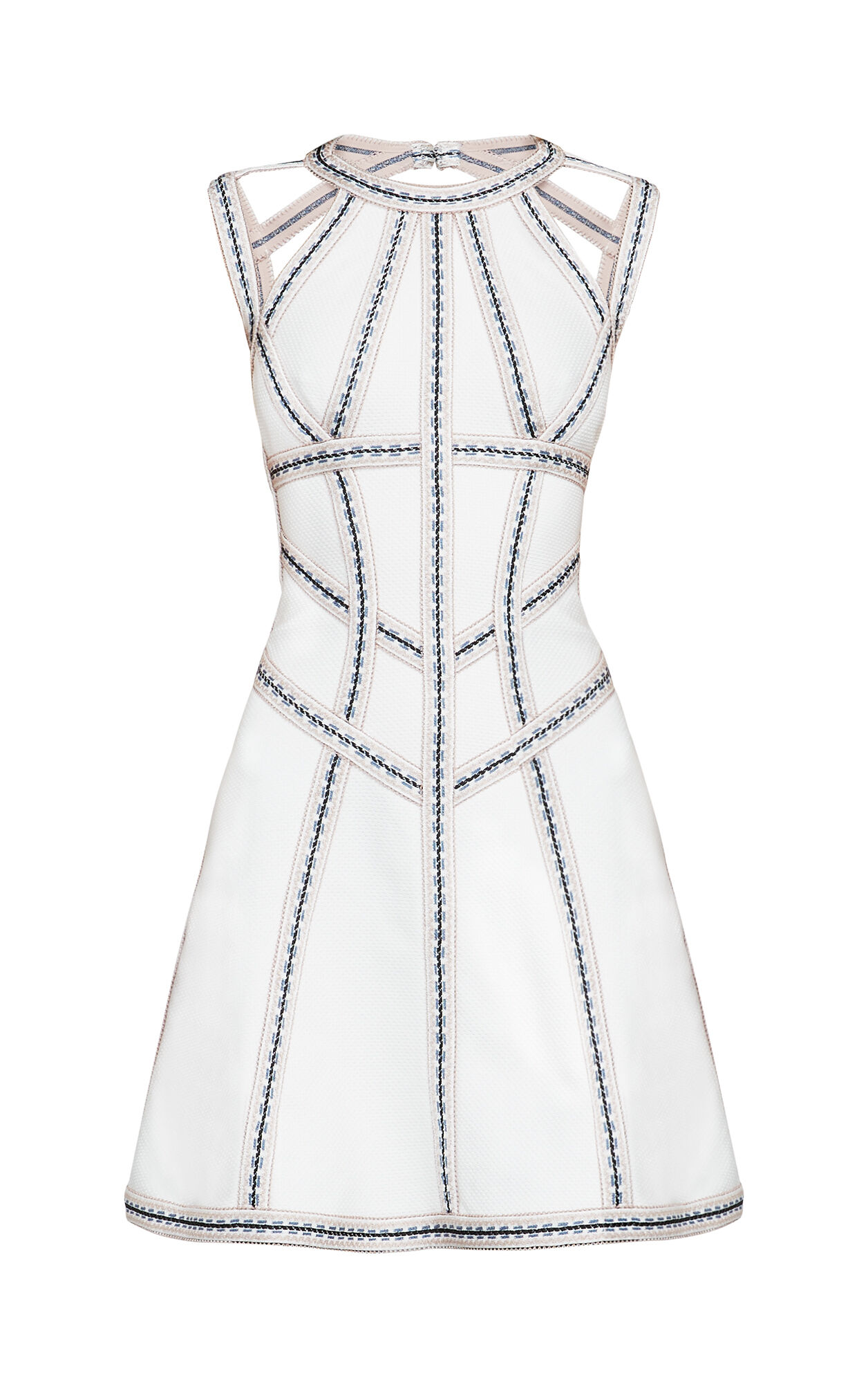 Eliza Geometric Jacquard Bandage Dress