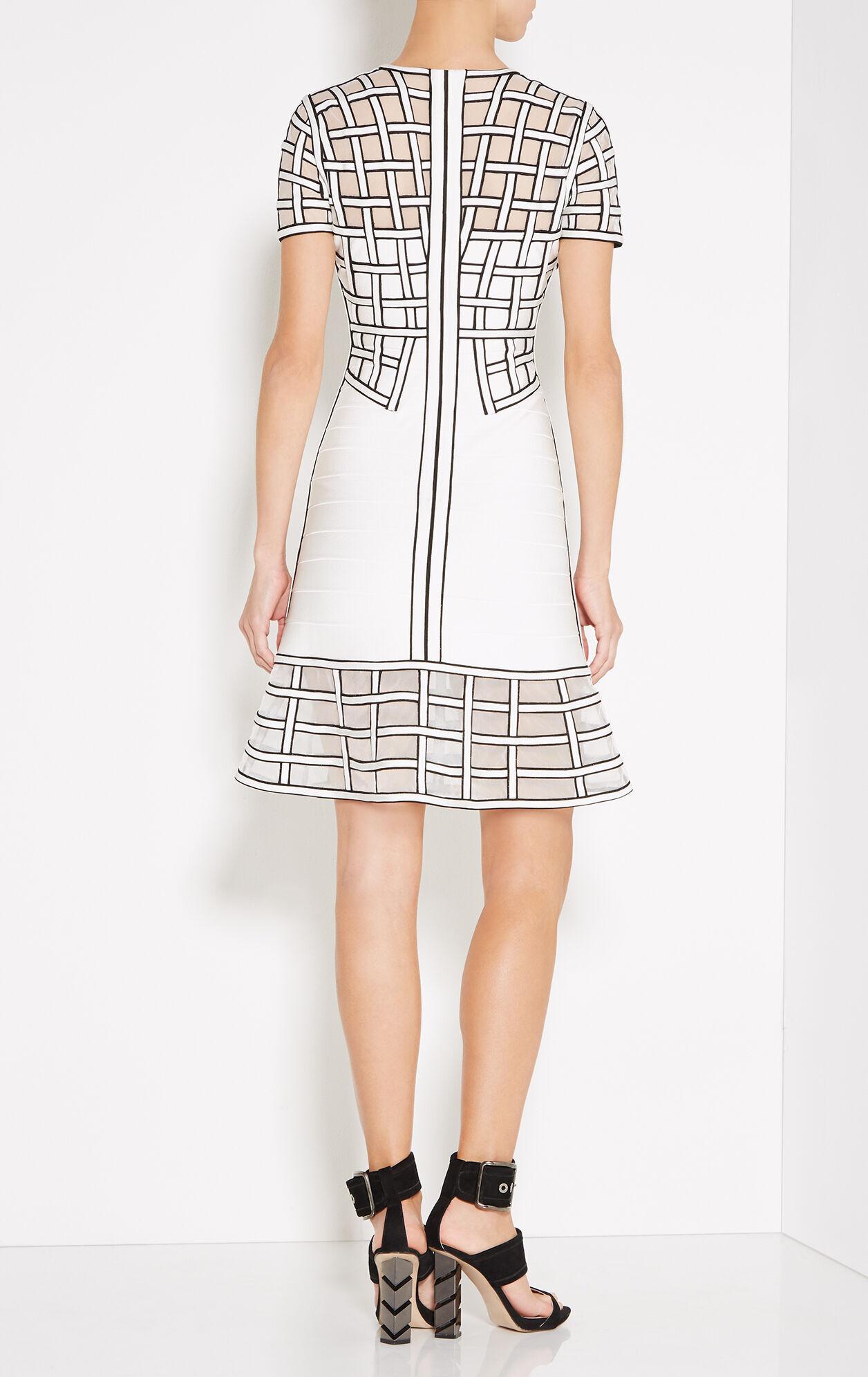 Tamera Caged Bandage Flute Dress