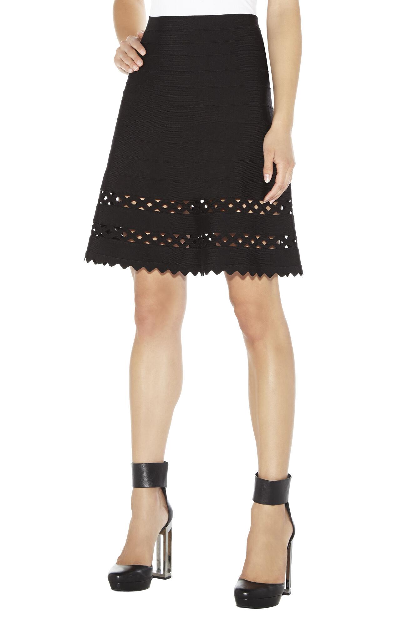 Nicola Geometric-Eyelet Skirt