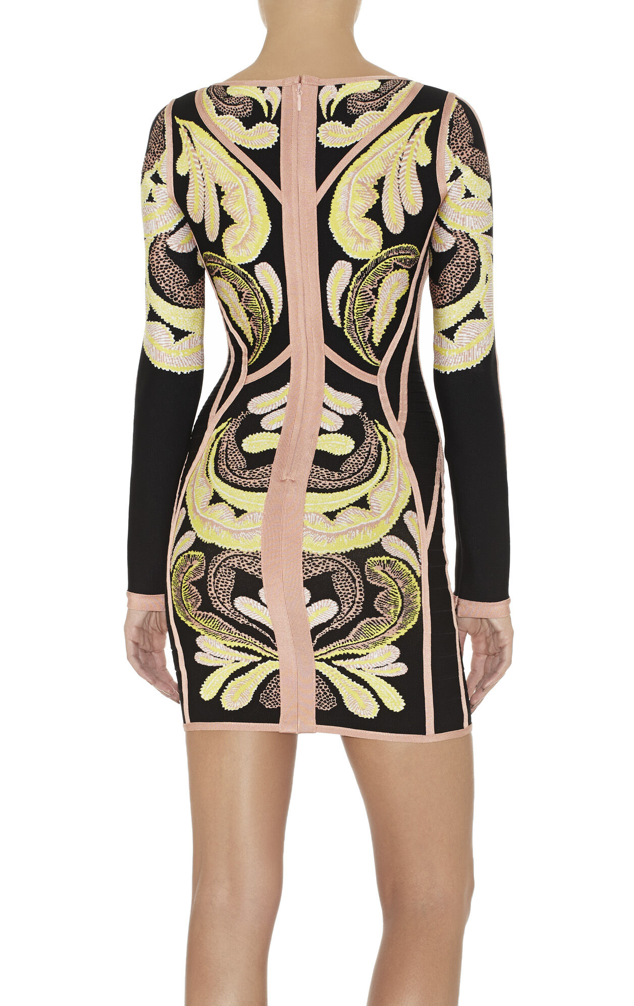 Freja Paisley Jacquard Dress