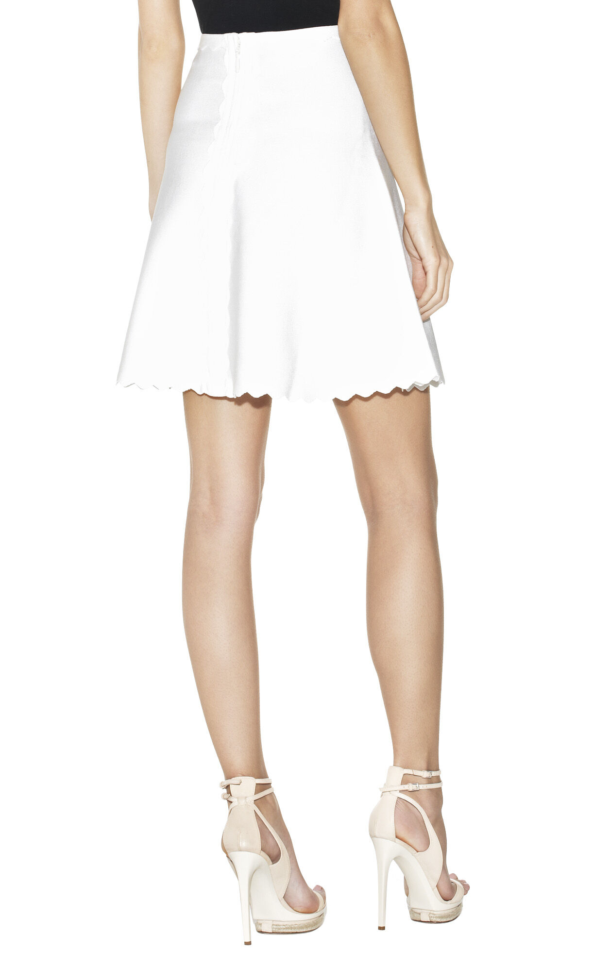 Fay Scalloped-Edge A-Line Skirt
