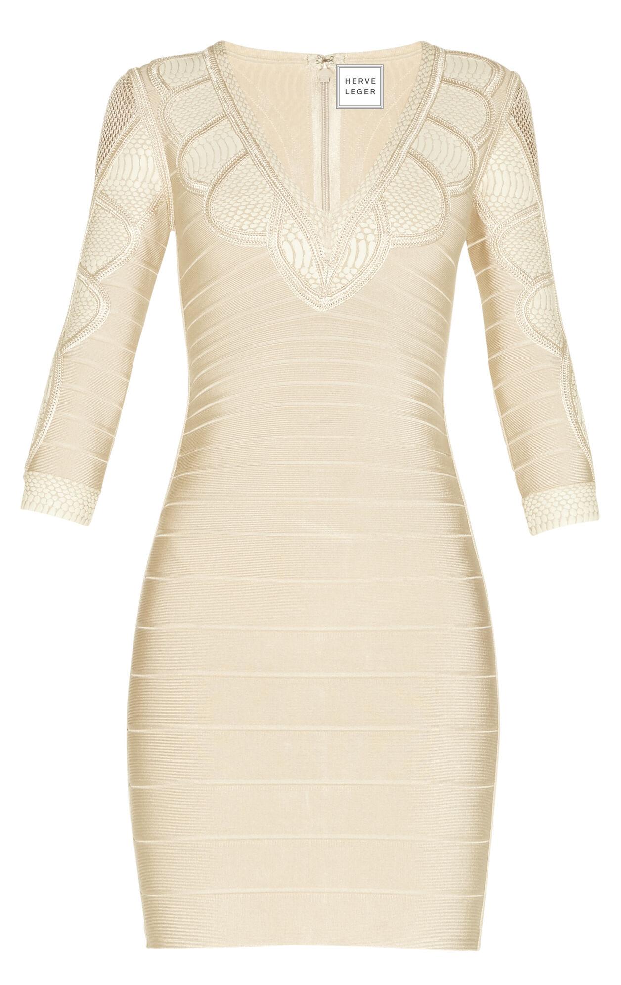 Sofie Puffa Print Crochet Detail Dress