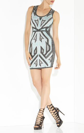 Daria Geometric Jacquard Dress
