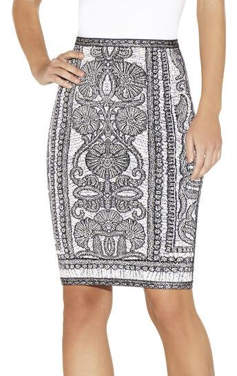 Tempes Bohemian Floral Jacquard Skirt