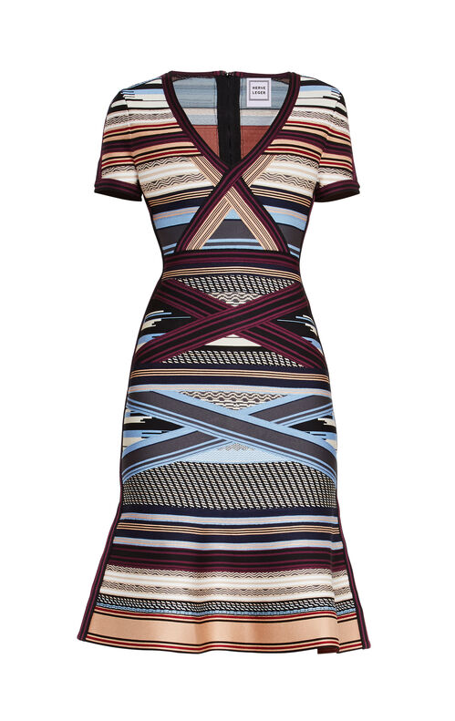 Lavinia Engineered Multi-Stripe Dress