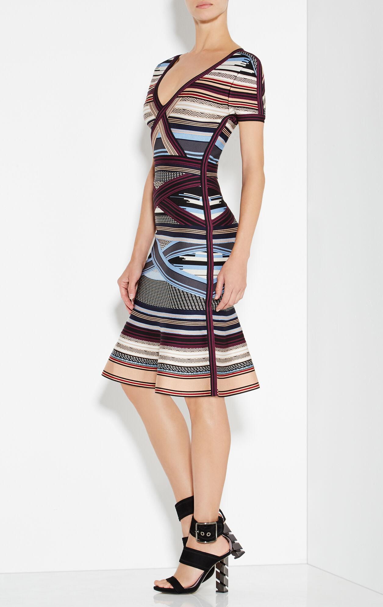 Lavinia Engineered Multi-Stripe Dress