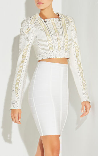 Kiora Lacing Mosaic Detail Jacket