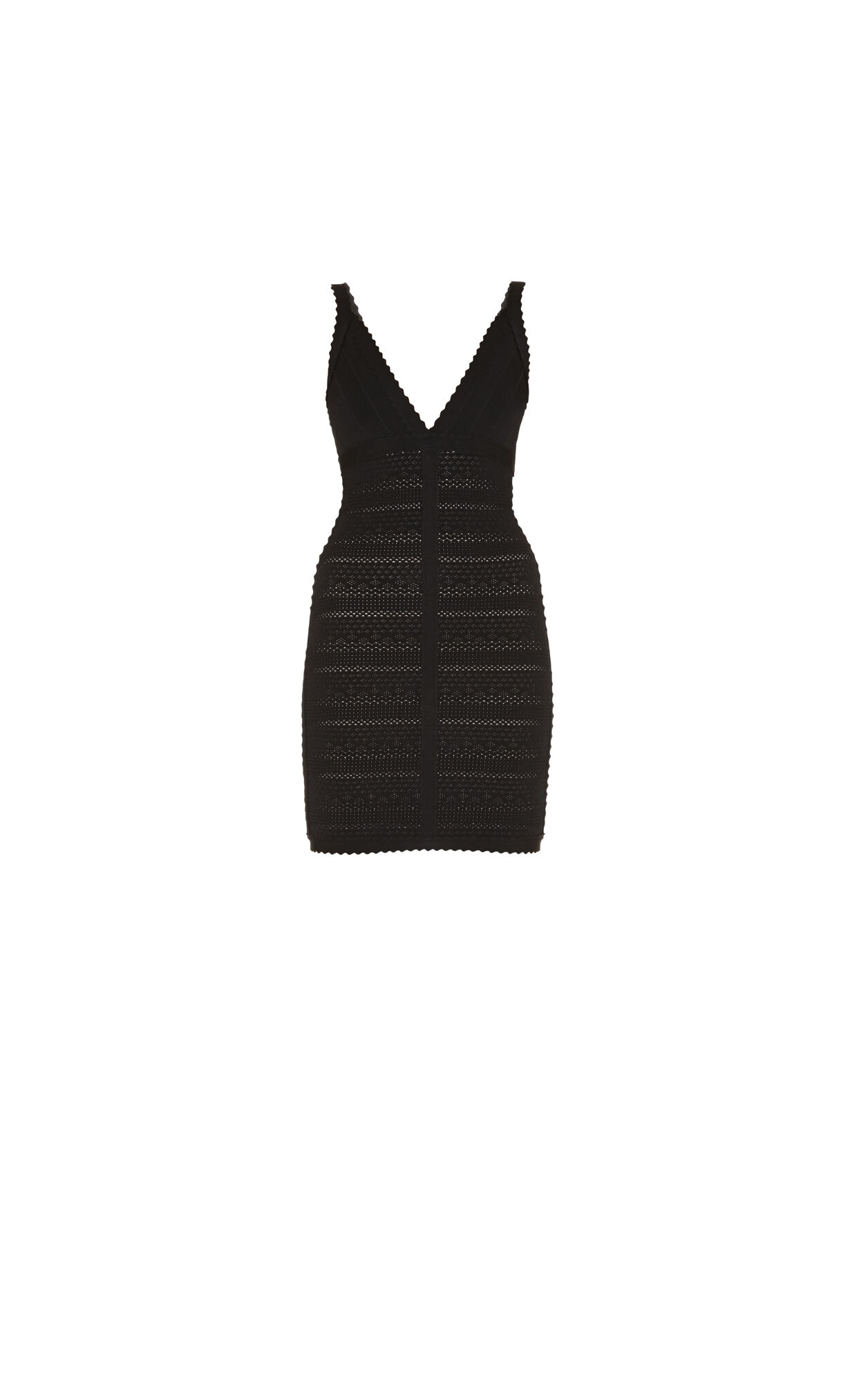 Billie Lace-Stitched Scalloped-Trim Dress