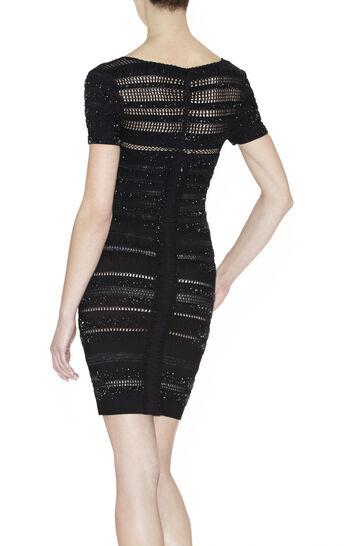 Alexi Embellished Crochet Lace-Stitch Beaded Dress