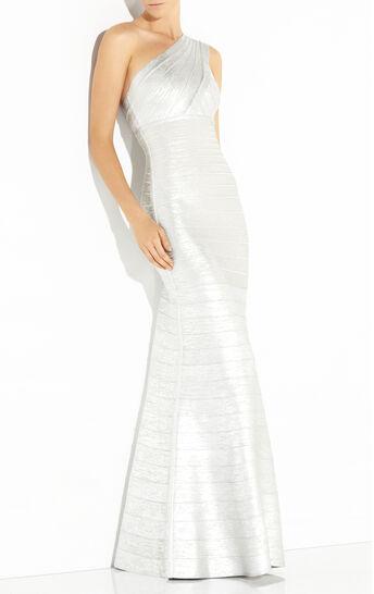 Lilyanna Woodgrain Foil Printed Gown