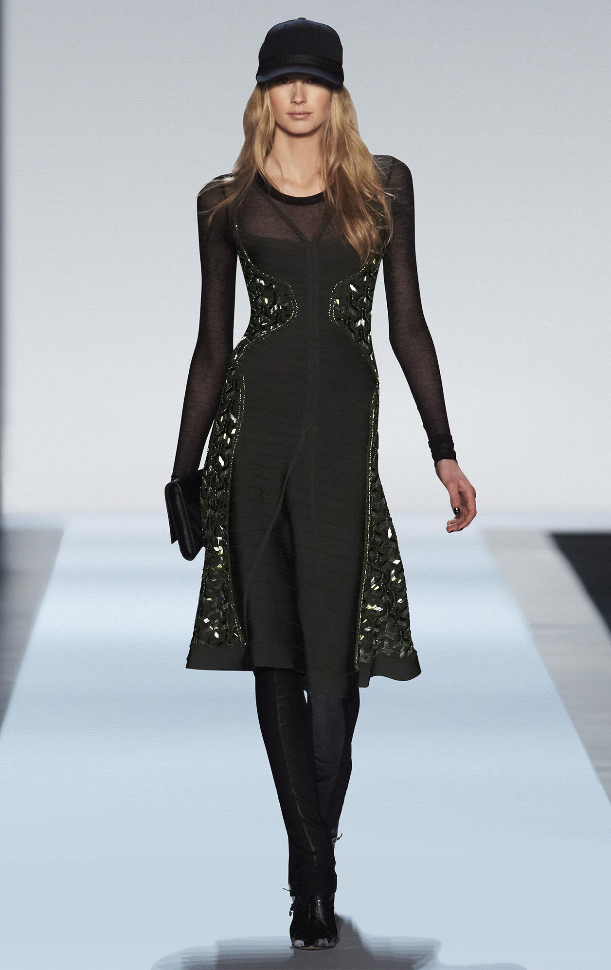 Ondria Geometric Beaded Dress