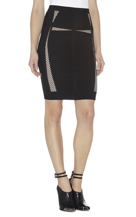 Ezra Multitexture Mesh-Blocked Skirt