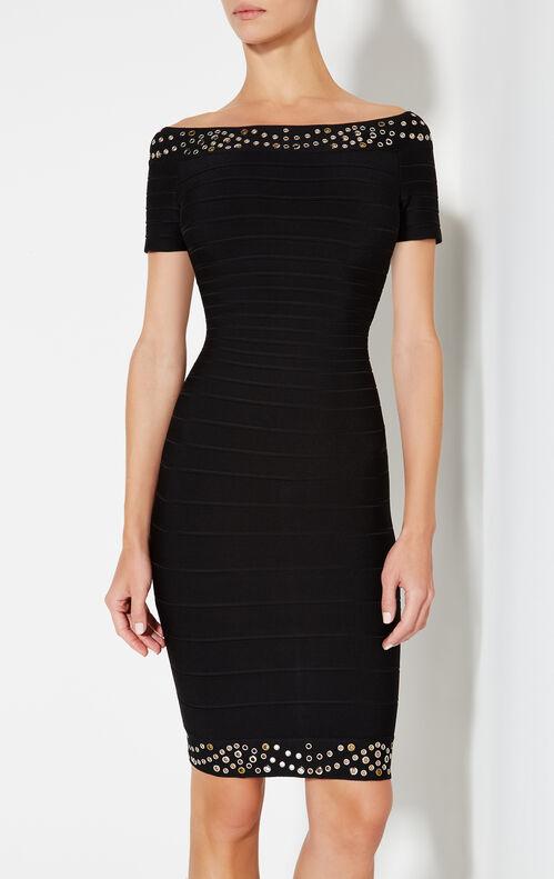 Karlee Eyelet Off-Shoulder Dress