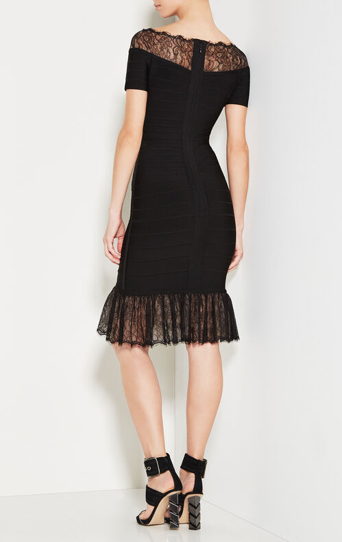 Orianna Vintage Lace Bandage Dress
