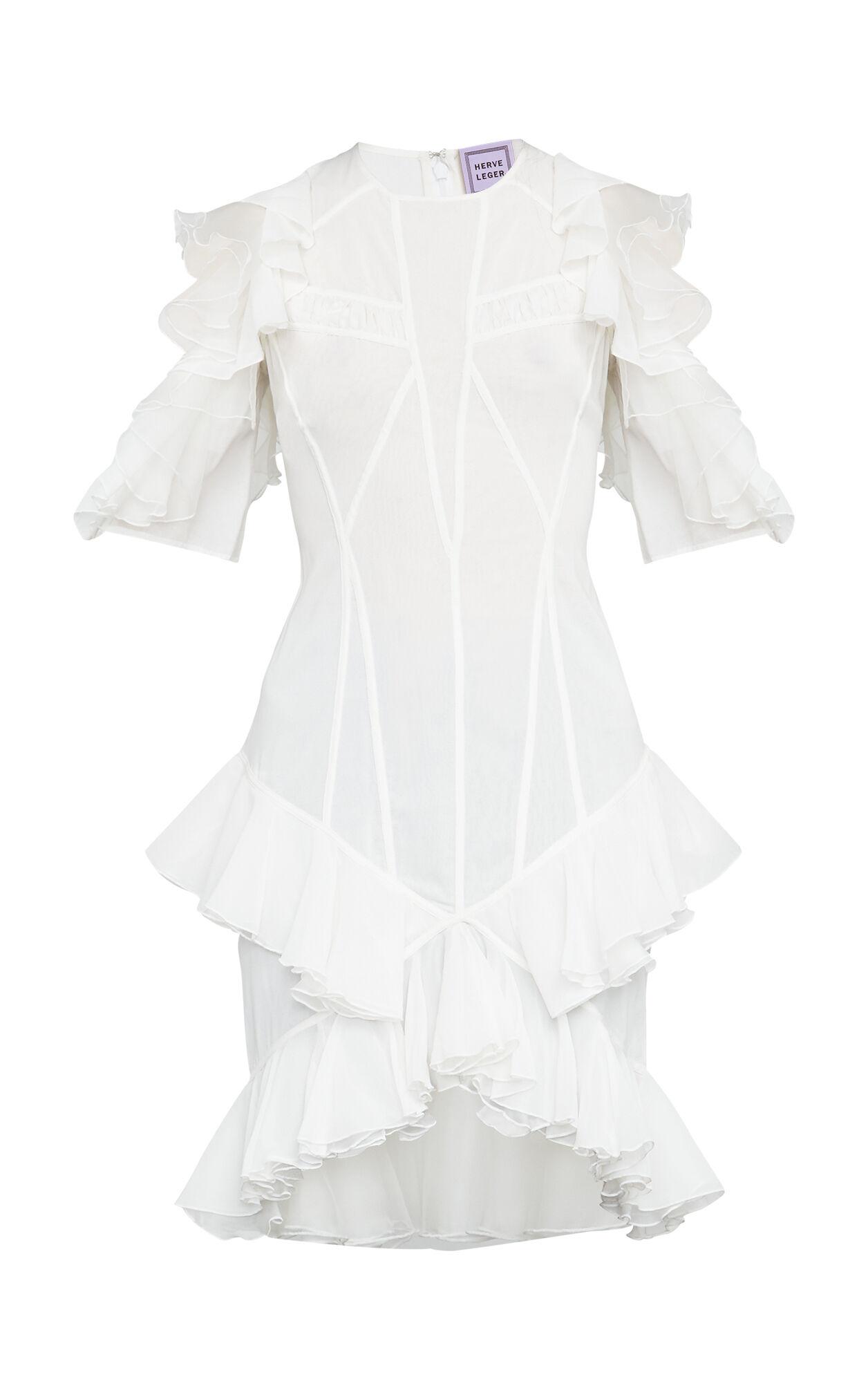 Aleksandra Ruffled Sheer Chiffon Dress