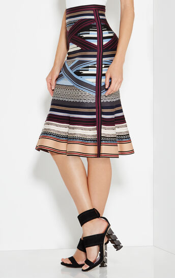 Brandie Engineered Multi-Stripe Skirt