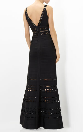 Kaiya Embroidered Englese Cutout Gown