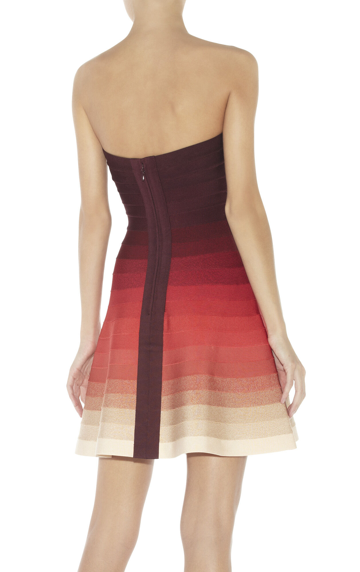 Lake Strapless Ombre Bandage Dress