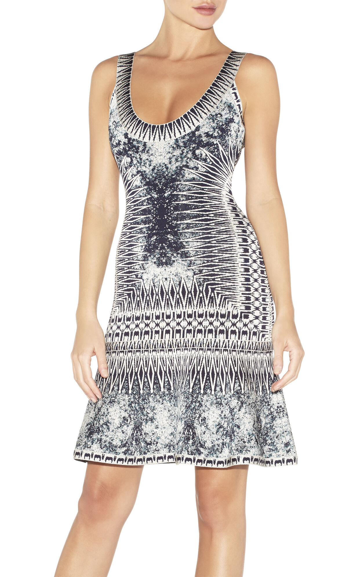 Ivana Photographic Jacquard Dress
