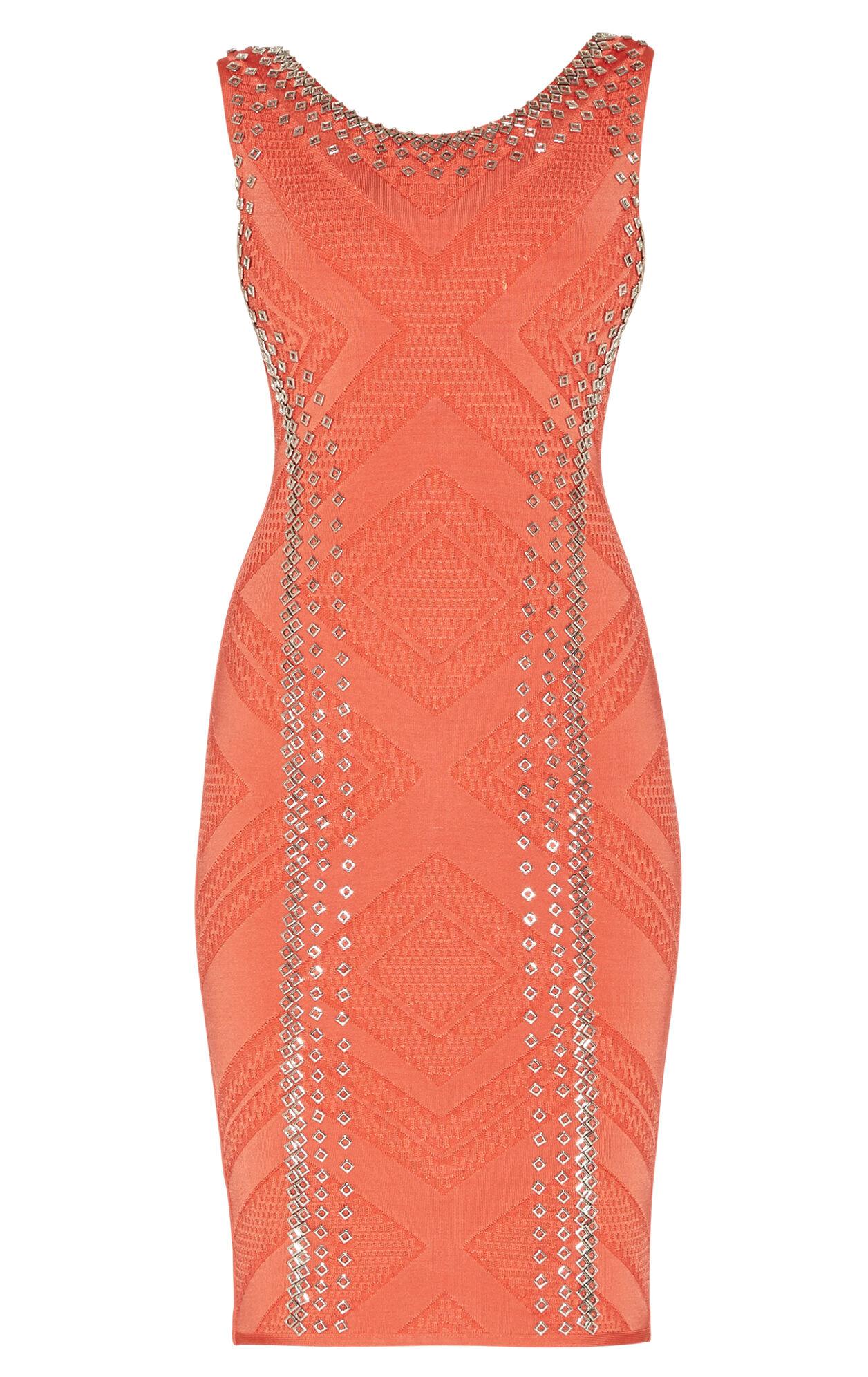 Adriane Engineered Textured Beading Dress
