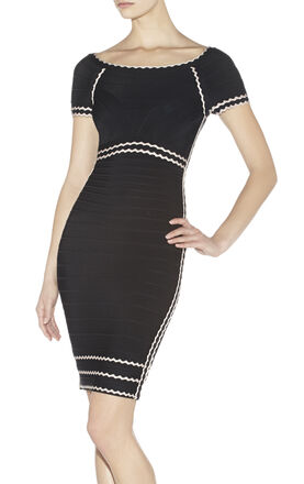 Kym Tipped Scalloped-Edge Dress