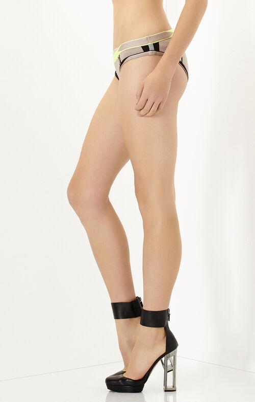 Cecil Engineered Colorblocked Bikini Bottom