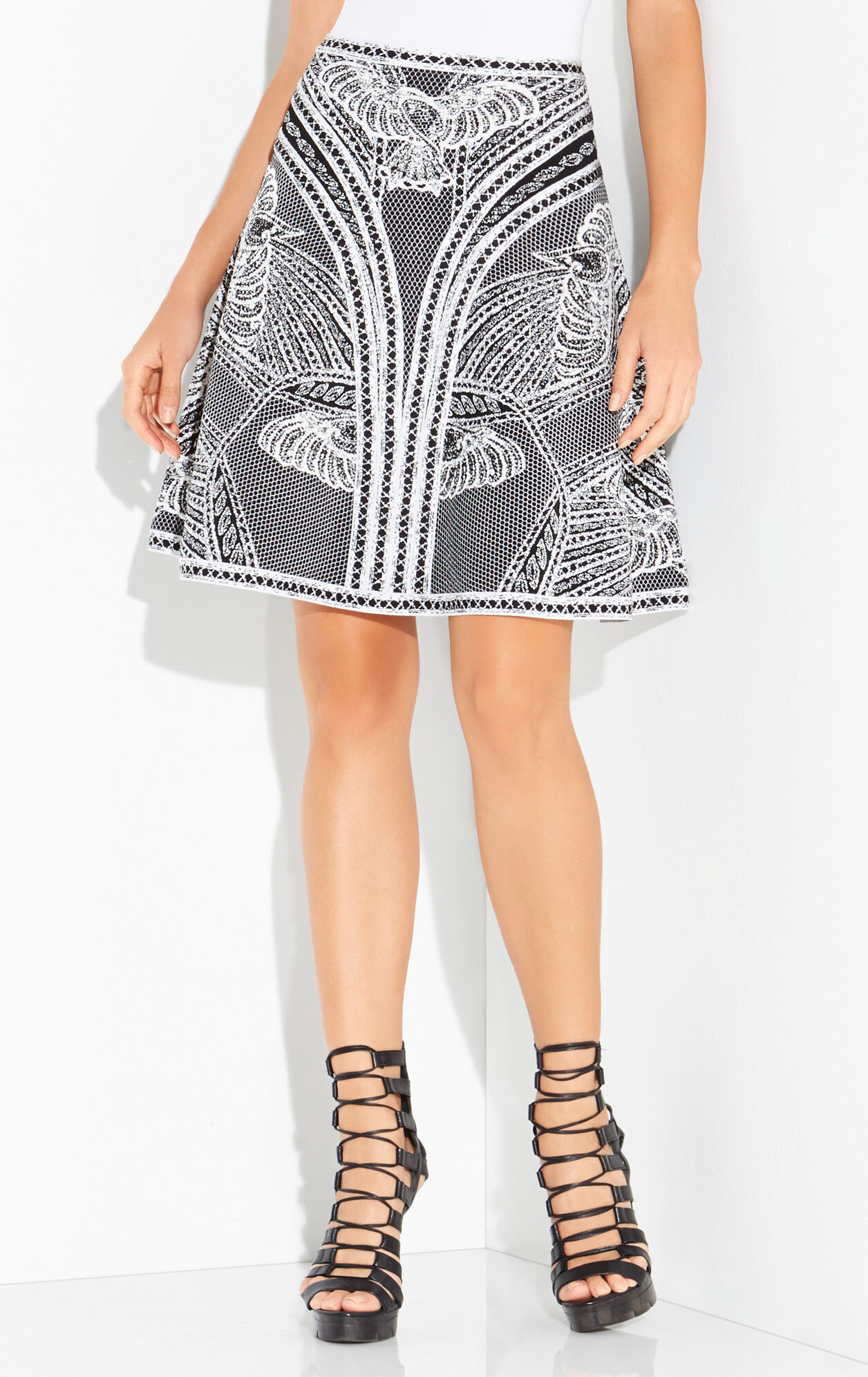 Adella Tree of Life Jacquard A-Line Skirt