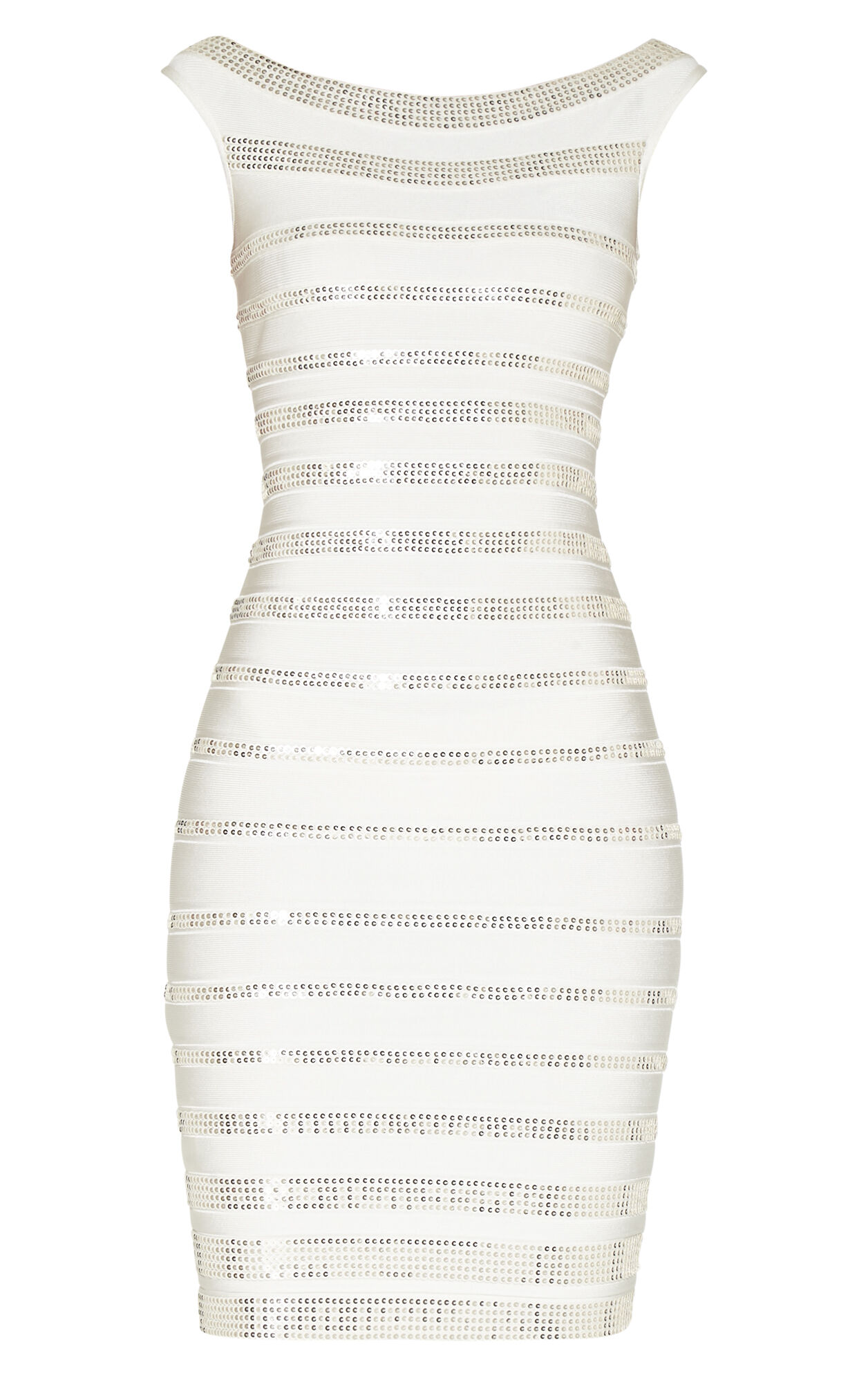 Fatima Stacked Leather Sequined Dress