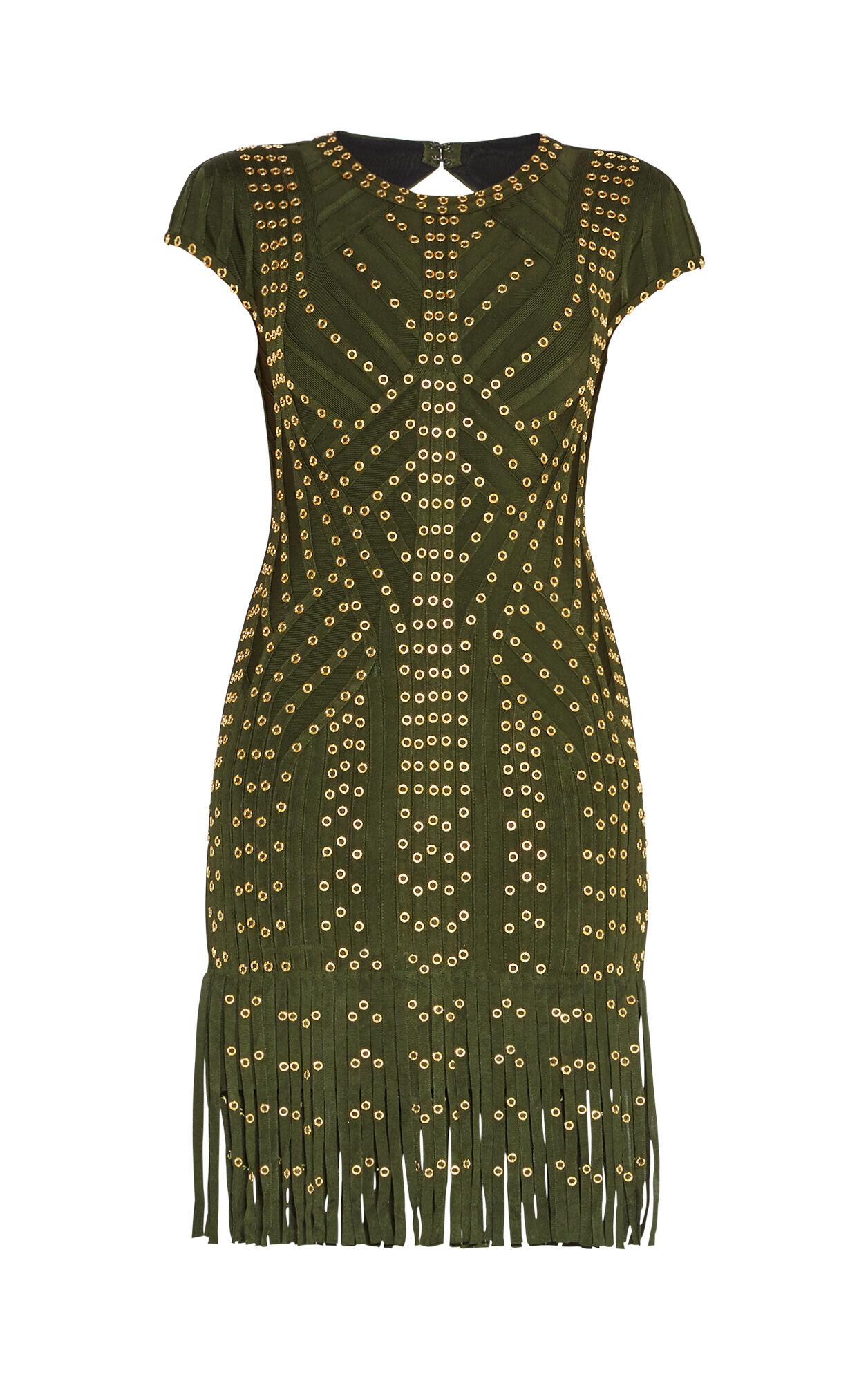Haylee Eyelet Fringe Dress