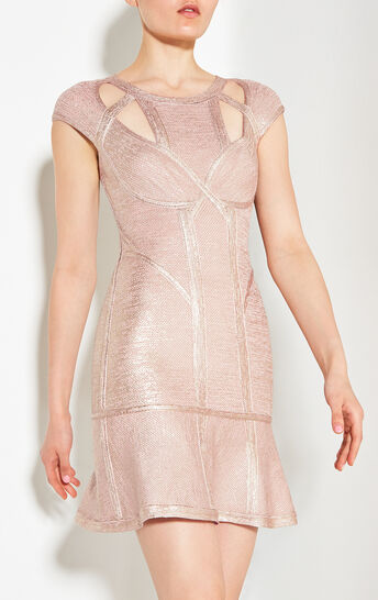 Ariana Foil Crochet Jacquard Dress