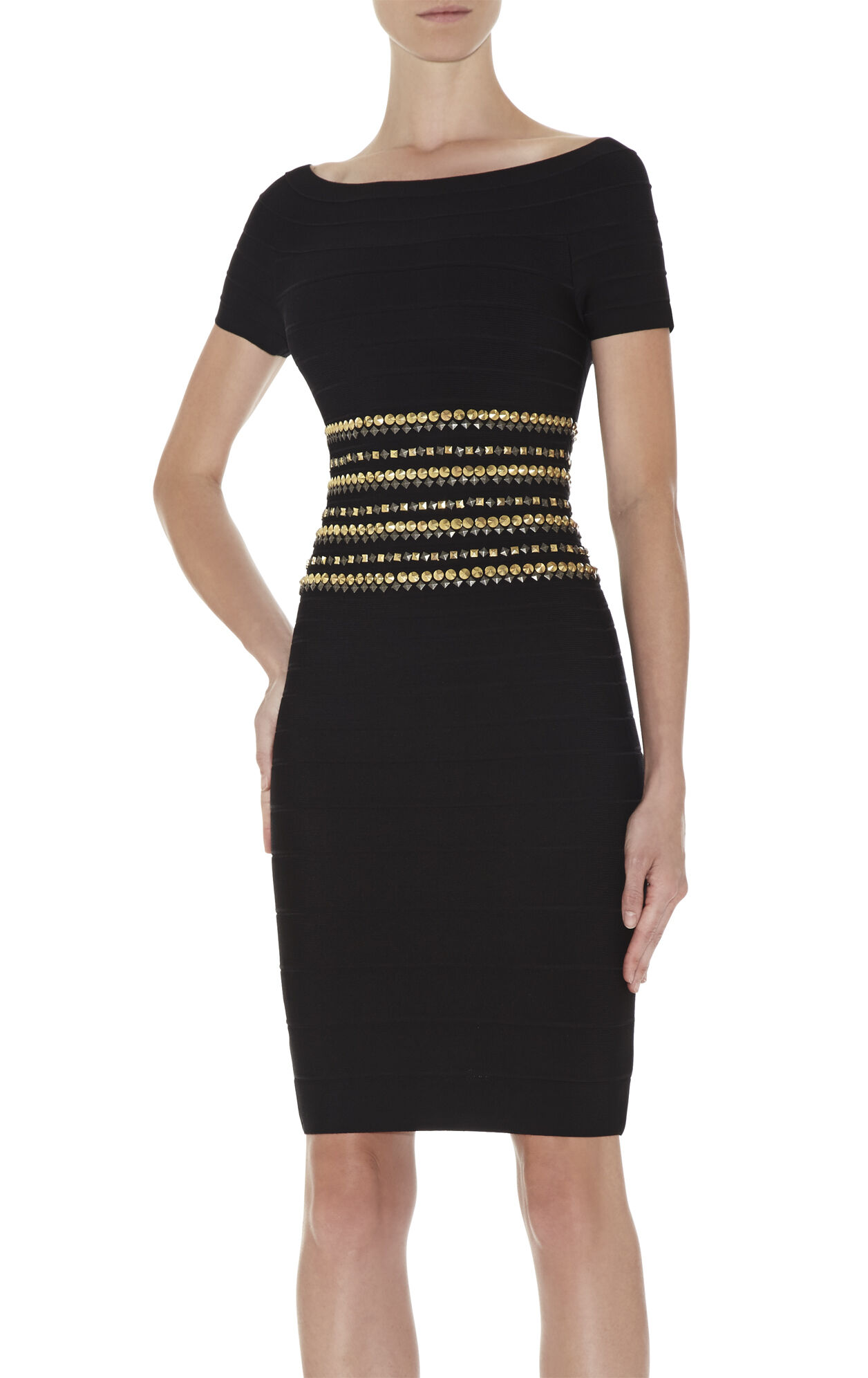 Carmen Studded-Detail Dress