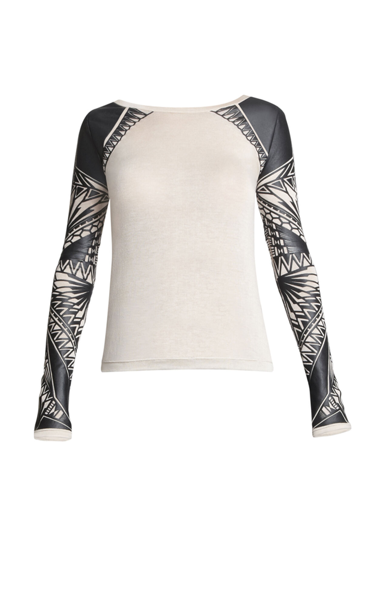Yusa Tattoo-Print Top
