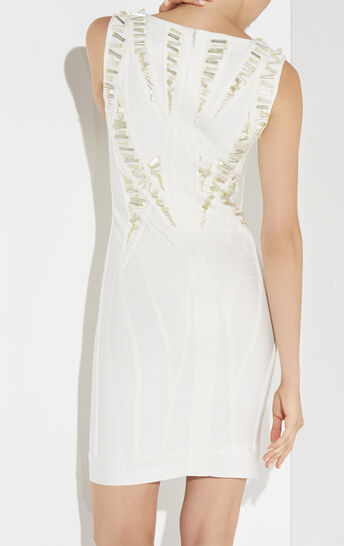 Avryl Beaded Cutout-Back Dress