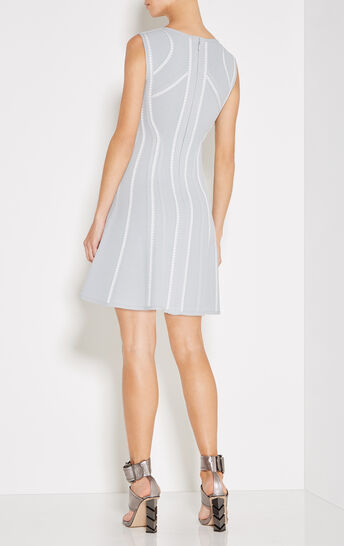 Liany Texture Bandage Flare Dress