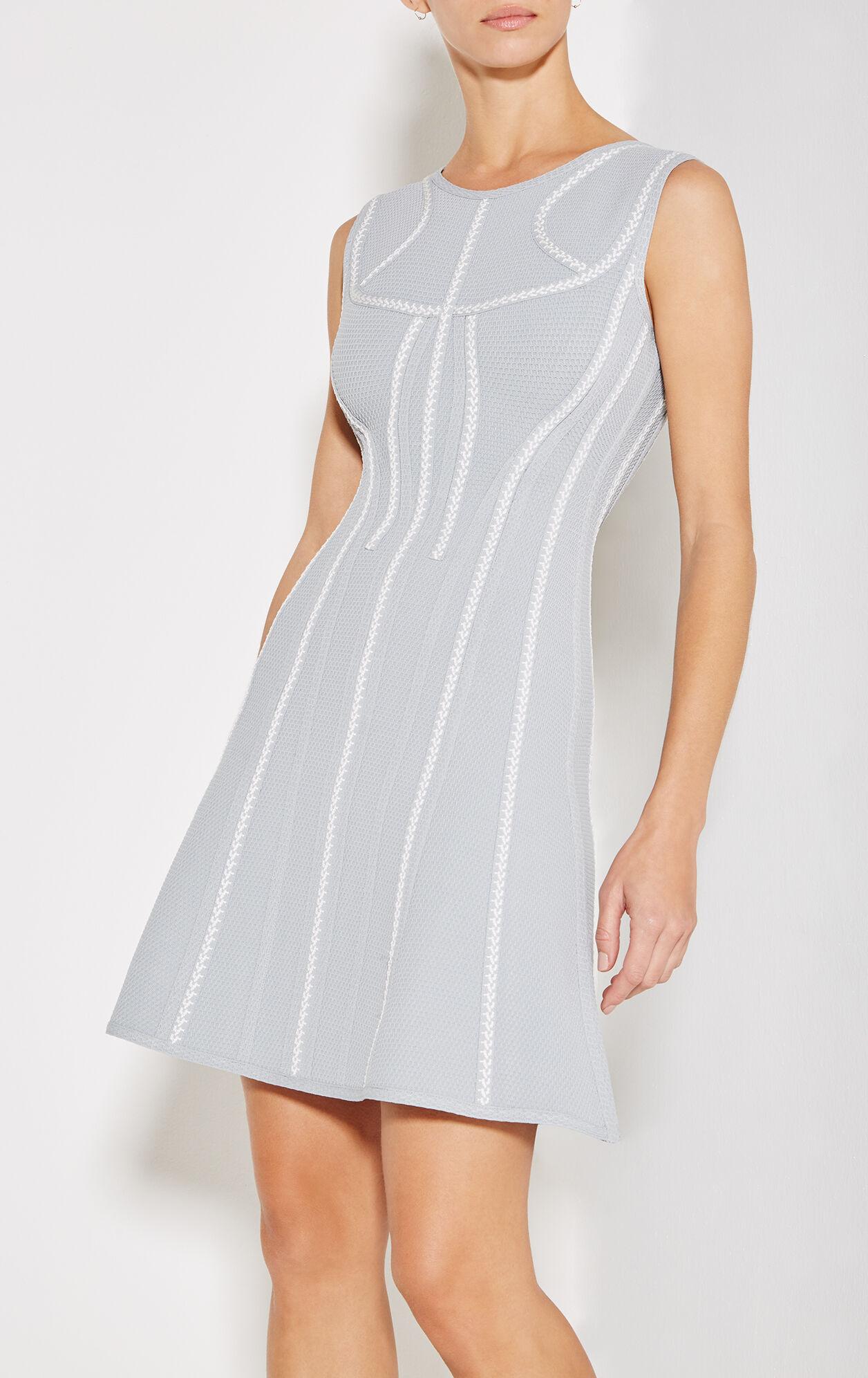 Liany Texture Bandage Flare Dress