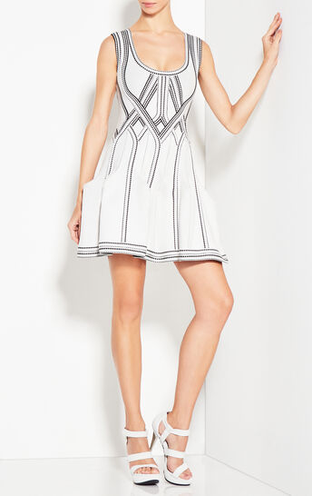 Eliana Caged Jacquard Dress