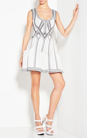 Eliana Caged Jacquard Dress