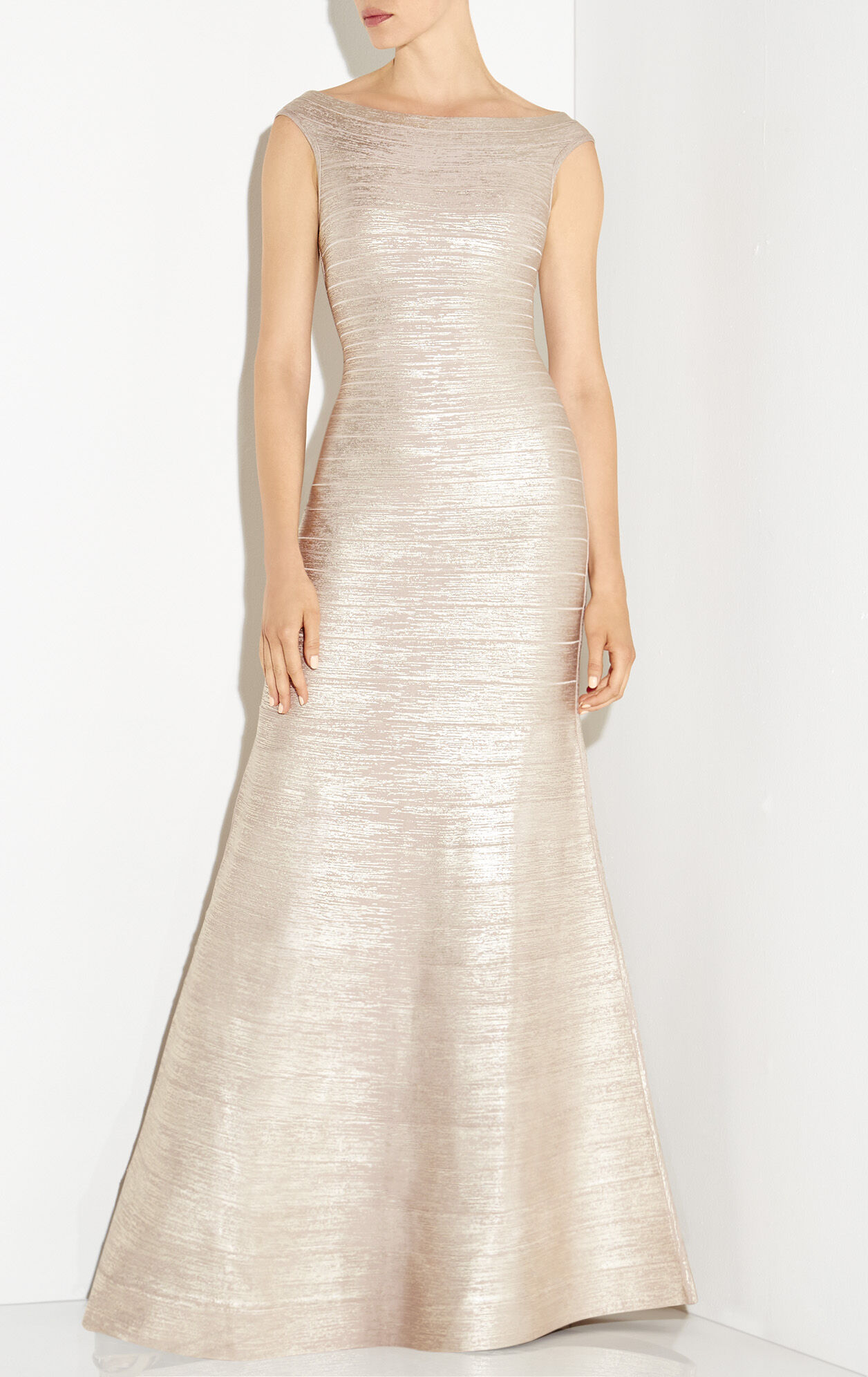 Sophia Metallic Foil Mermaid Gown