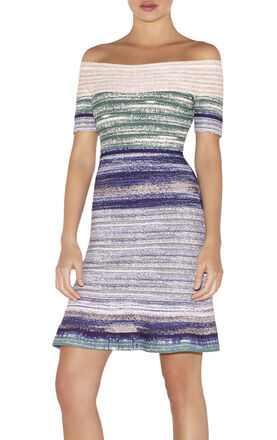 Liza Watercolor Jacquard Ombre Dress