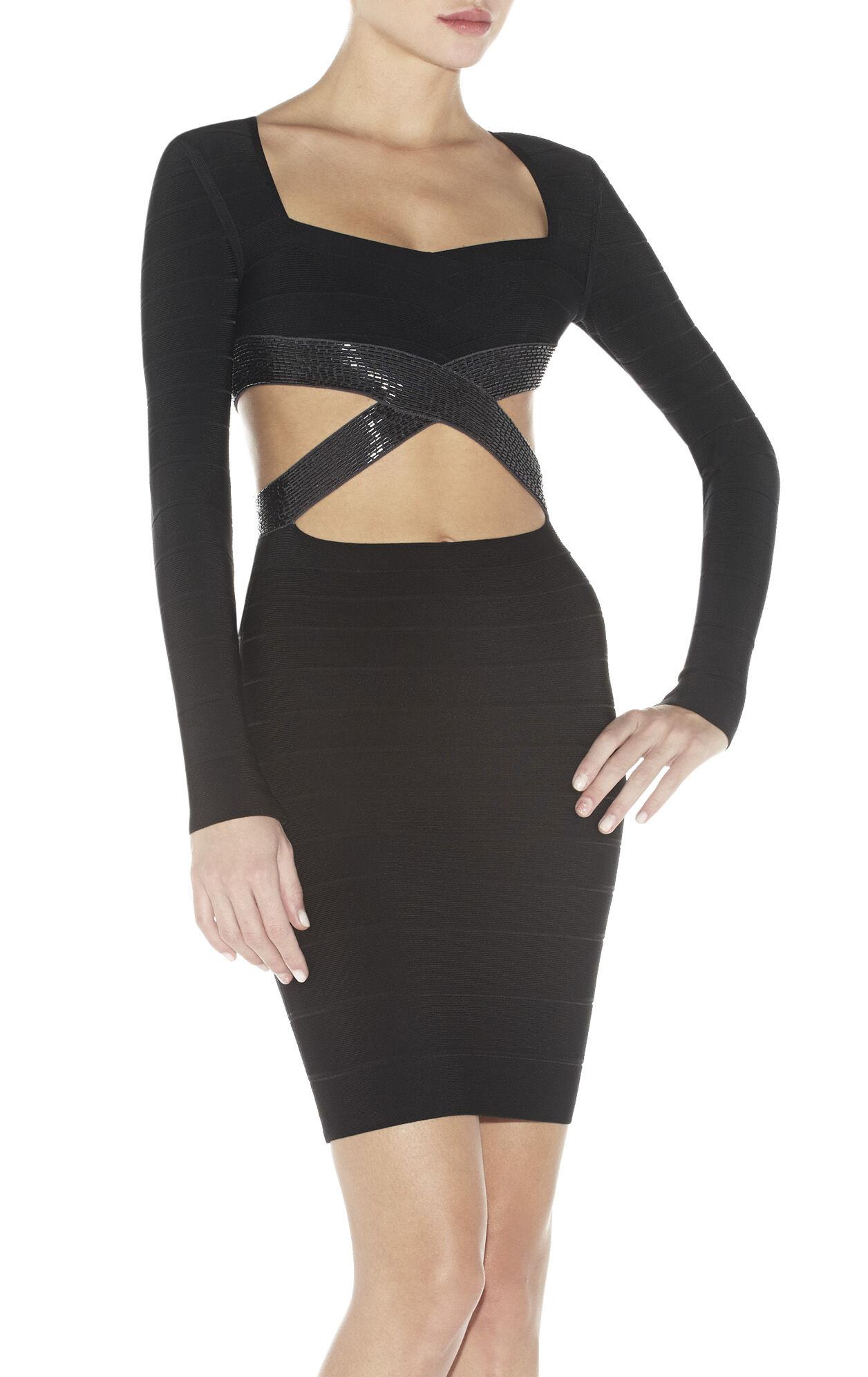 Gracie Cutout-Detail Bandage Dress