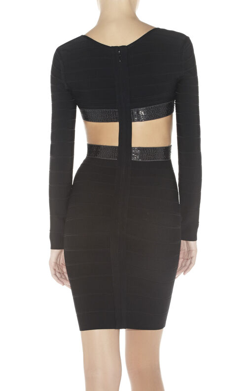Gracie Cutout-Detail Bandage Dress